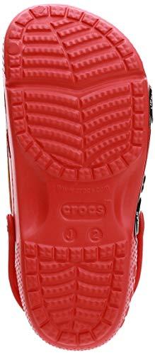 Crocs Fun Lab Cars Clog Unisex Niños Zuecos, Rojo (Flame), 34/35 EU