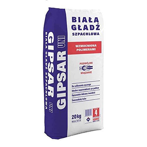 Gipsspachtel Wandspachtel Feinputz Spachtelmasse Feinspachtel polymerverstärkt ATLAS GIPSAR UNI bis 2mm Weiß 20Kg