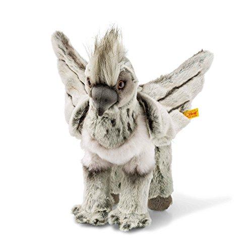 Steiff 355073 Harry Potter Seidenschnabel Buckbeak, Plüschtier, grau/beige, 31 cm