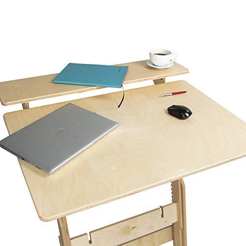 Stehpult Stehtisch Typ Dtu - Holz - Tisch höhenverstellbar - Farben:Tischplatte - geölt, transparent, Gestell - naturbelassen - Adjust Standing Desk- Kontorka