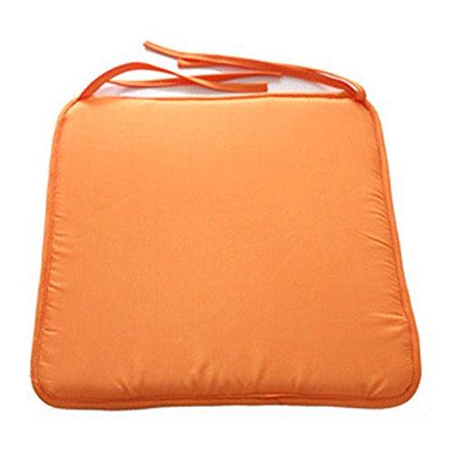 Cojín impermeable para sofá o silla, cojín para asiento al aire libre, para jardín, funda extraíble (40 x 40 cm), color morado 40cm by 40cm naranja