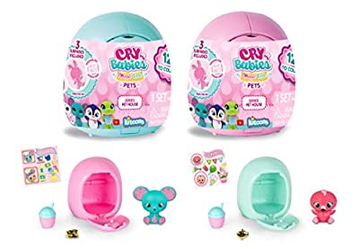 Cry Babies Magic Tears Pet House, Pack of 2 from IMC Toys