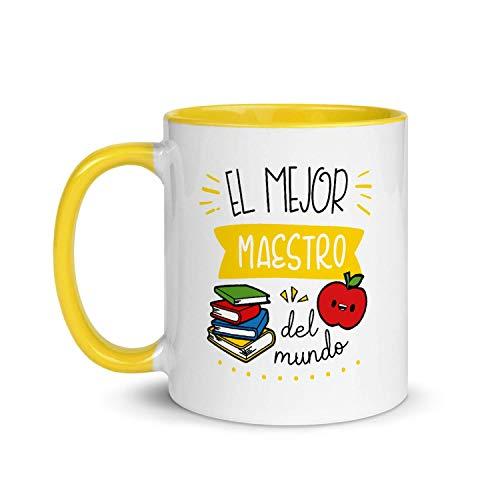 Kembilove Taza de Desayuno del Mejor Maestro del Mundo – Tazas de Café para Profesionales y Trabajadores para la Oficina – Tazas de Té en Color de Profesiones – Taza de Cerámica de 350 ml