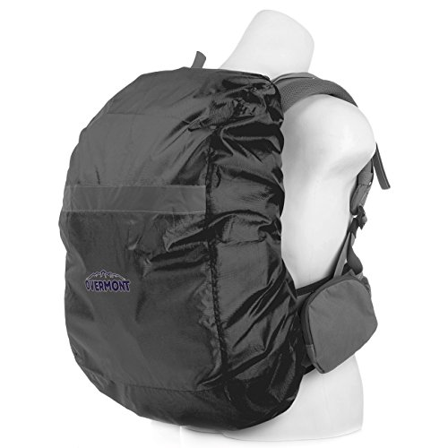 Overmont Waterproof Backpack Rain Cover Pack Cover with Rendem Reflector Strip for Travel Camping Cycling