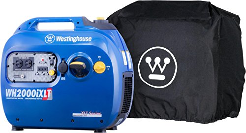 Westinghouse WH2200iXLT Inverter Generator with All-Weather Cover – 1800 Rated Watts and 2200 Peak Watts – Gas Powered – CARB Compliant
