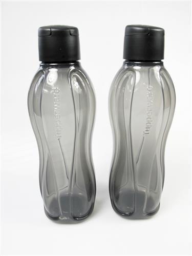 Tupperware to Go Eco 1,0L schwarz (2) C138 Trinkflasche Easy Ökoflasche 16907