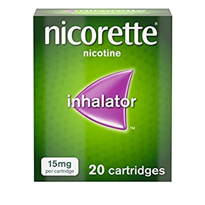 Nicorette Inhalator - Relieve Your Nicotine Cravings - Quit Smoking & Stop Smoking Aids - 15mg, 20 Cartridges from Johnson & Johnson