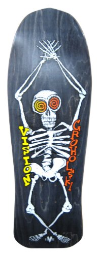 Vision Groholski Skeleton Reissue Skateboard-Brett 24,9 x 76,2 cm, BD0V31-black, Schwarz, 10.25 x 30-Inch