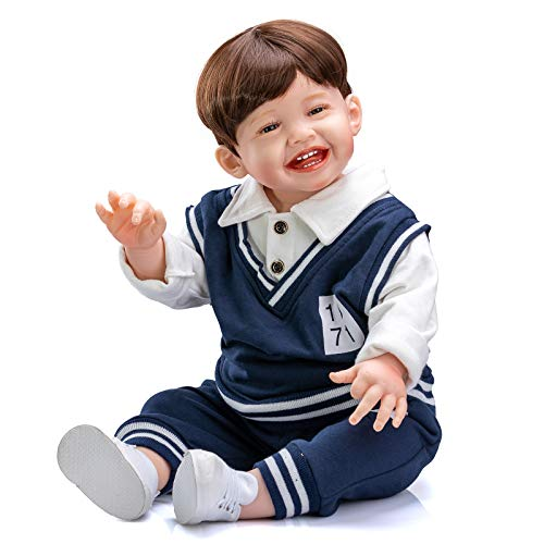 Realistic Toddler Reborn Dolls Boy 28inches Original Huge Toddler Size Cuddly Silicone Weighted Doll Lifelike Toddler Dolls Best Gift Set for Girl Ages 3+