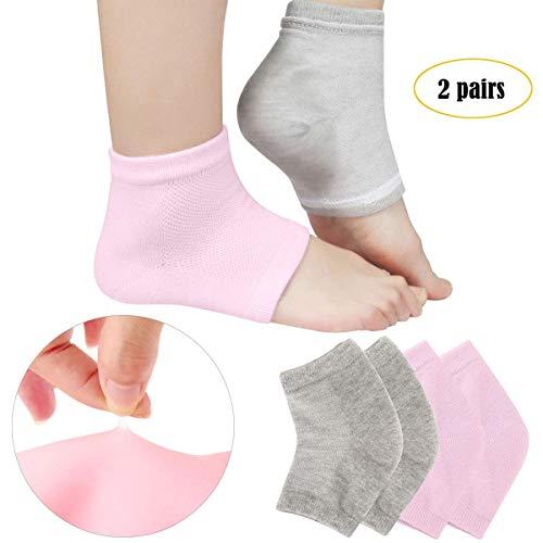 DILISEN Calcetines hidratantes ventilados Loción Gel para Talones Secos y agrietados, Calcetines de Gel para SPA Humectante Humectante Bálsamo para el talón Cuidado del pie Cuidado Suavizan