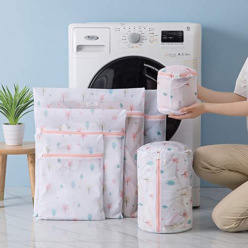 洗濯ネット ランドリーネット 洗濯袋セット 6枚入 傷み防止 絡み防ぎ 変形を防ぐ 家庭用 収納 旅行収納袋 (C01)
