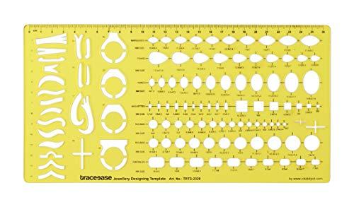 Traceease Mehrere Edelstein Templates Stein Formt Schmuck Vorlagen Werkzeuge Schmuck,Design Ring Schablonen Ausarbeitung