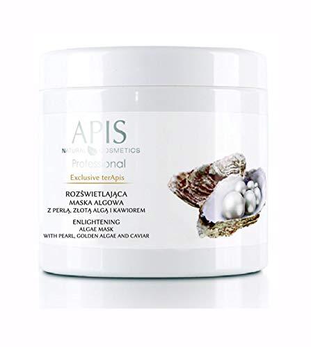 APIS EXCLUSIVE TERAPIS Erhellende Algenmaske mit Perle, Goldener Alge und Kaviar | Straffheit und Schein der reifen Haut | 250 g