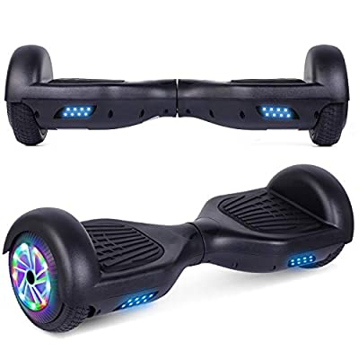 UNI-SUN Hoverboard Two-Wheel Self Balancing Hoverboard for Kids with LED Lights - UL 2272 Certified, Black
