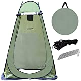 HYGRAD Portable Instant POP Up Tent Camping Toilet Shower Changing Single Room Privacy Travel Tent With Bag (Green)