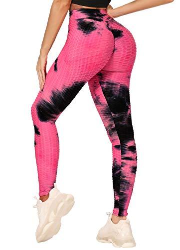 INSTINNCT Mallas largas para mujer, corte ajustado, cintura alta, con control de abdomen, para correr, fitness, deporte B-Negro Mix Rosa. XL