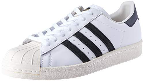 adidas Herren Superstar 80S Gymnastikschuhe, Elfenbein (White/Black 1/Chalk 2), 48 EU