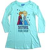 Frozen Nachthemd Mädchen Disney Anna und ELSA (Hellblau, 98-104)