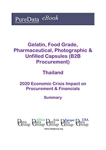 Gelatin, Food Grade, Pharmaceutical, Photographic & Unfilled Capsules (B2B Procurement) Thailand Summary: 2020 Economic Crisis Impact on Revenues & Financials (English Edition)
