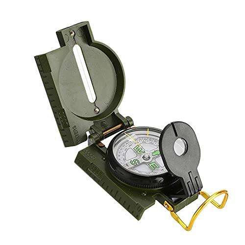 YRHH Brújula Multifuncional, Todo Metal Militar, Impermeable, Brújula De Alta Precisión, Avistamiento, Clinómetro, Actividades Al Aire Libre