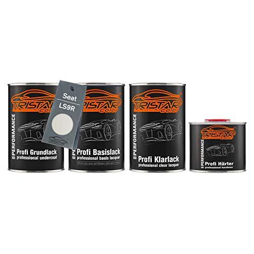 TRISTARcolor Autolack Set Dose spritzfertig für Seat LS9R Blanco Nevada Perl Grundlack + Basislack + 2K Klarlack 3,5L