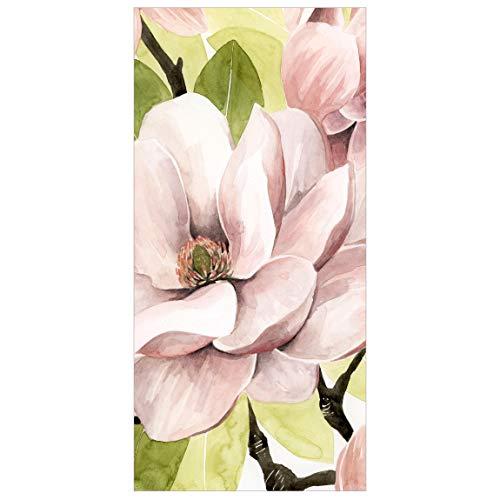 Bilderwelten Raumteiler Vorhang Magnolie errötet I - 250x120cm inkl. transparenter Halterung