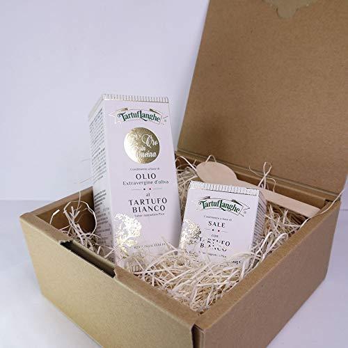 タルトゥフランゲ社 白トリュフオイル 白トリュフ塩 セット 木のスプーン ギフトボックス付