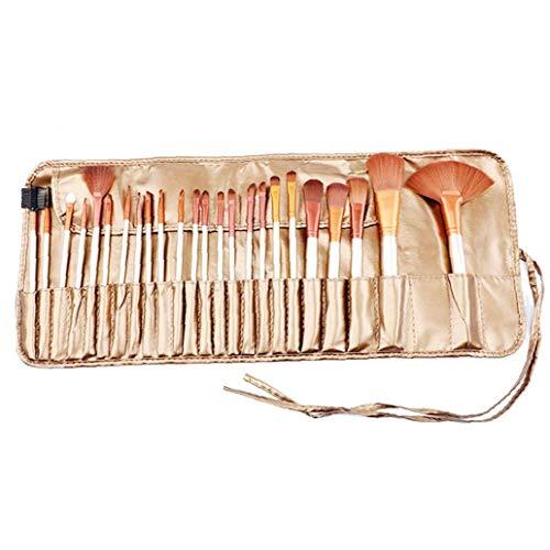 Maquillage 24pcs Ensemble De Brosses Blending Synthétique Haut De Gamme Porte-Brosse Cosmétiques Professionnels Visage Fard à Joues Ombre à Paupières Fondation Correcteur D'Or