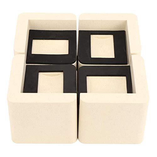 Bed Risers, 4Pcs Multifunktionale rutschfeste Bed Riser Möbelheber Schutz für Schreibtisch Bein Sofa Fußpolster