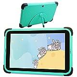 Tablet Niños de 8 Pulgadas, Android 11 Tablet Niños con ROM de 32GB, Pantalla Full HD 1080P Quad-Core Android 11 WiFi, Tabletas de Aprendizaje con Soporte de Estuche a Prueba de niños (Green)