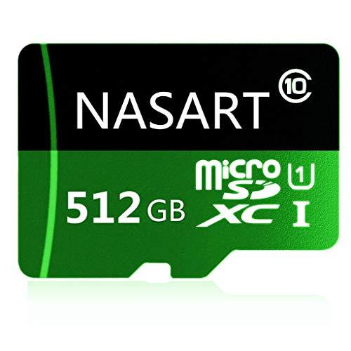 genericc 128 GB / 512 GB / 1024 GB Micro SD SDXC-Flash-Speicherkarte Klasse 10 für Handykamera Laptop Free Adapter (512GB)