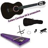 DELSON Pack Guitare Classique Granada noir + accessoire