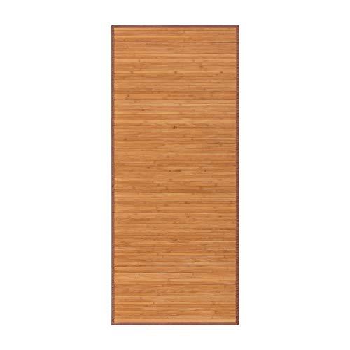 Alfombra pasillera de bambú marrón de 175x75 cm - LOLAhome