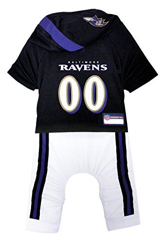 NFL Baltimore Ravens Pet Onesie, Size Large. Cutest Pet Outfit for Any Pet, Any Occasion!