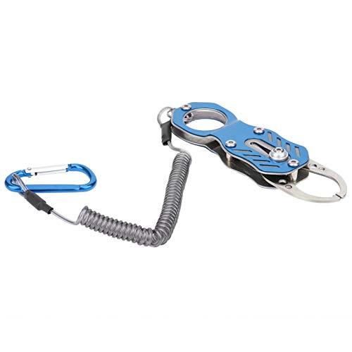 Pinza de pesca portátil de aleación de aluminio de diseño ergonómico con agarre de pesca ligero, para pescar(Glamour blue)