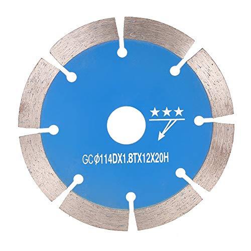 GYW-YW Saw Blade, 114 * 1,8 * 20 mm de Diamante Sierra segmento de Corte Poco seco de refrigeración con un diámetro Interior de los Agujeros de Corte de Piedra 20 mm (Color : Blue)