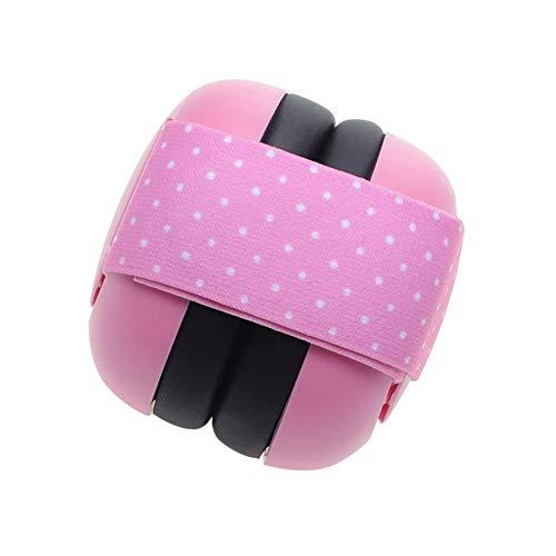 Geluidsbescherming hoofdtelefoon kinderen baby gehoorbescherming hoofdtelefoon gehoorbescherming beschermkoptelefoon oorbeschermer voor 0-2 jaar - 30dB geluidsbescherming roze