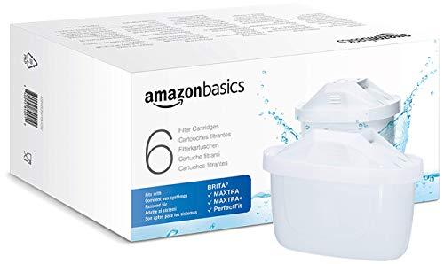 AmazonBasics Water Filter Cartridge, Brita Maxtra+ Compatible - 6 packs