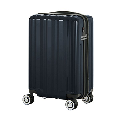 [レジェンドウォーカー] スーツケース 機内持ち込み対応 保証付 37L 49 cm 3kg ネイビー