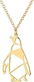 Yuanhua Penguin Origami Jewellery & Silver Geometric Necklace \\u2013 Penguin Necklace For Girls & Origami Necklace