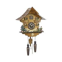 Trenkle Quartz Cuckoo Clock Black Forest House TU 430 Q
