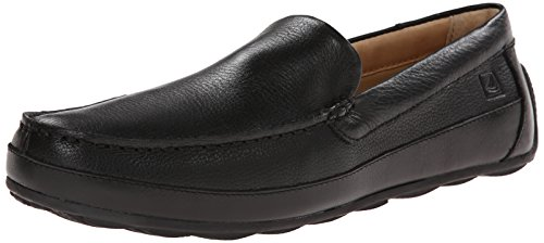 Sperry Black Leather Boat Shoes for Men