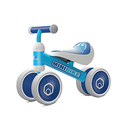 Biciclette senza Pedali per bambini 1 anno (10-18 mesi) Tricicli Neonati Corridori Giocattoli Regali per Bambini Bicicletta senza Pedali Bambino (Blue Dolphin)