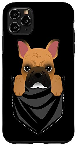 iPhone 11 Pro Max Fawn French Bulldog Pocket Graphic Funny Dog Case