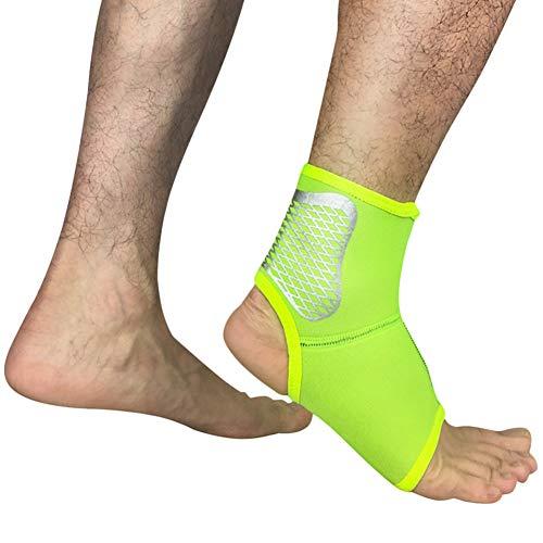 Demarkt Fußbandage Premium Qualität - Sprunggelenk-Bandage für Schmerzlinderung, Stabilisierung, Schutz und Kompression - Für Laufen, Basketball, Fußball und Fitness
