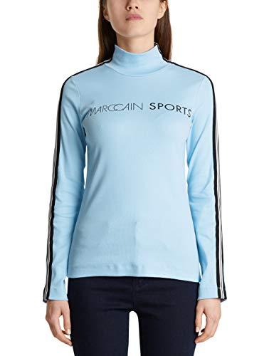 Marc Cain Sports Damen MS 48.41 J76 Rollkragenpullover, Blau (Seaview 318), 36 (Herstellergröße: 2)