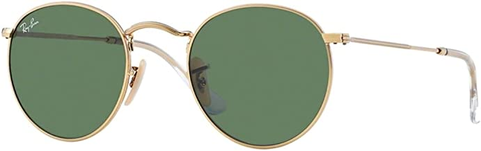Ray-Ban RB3447 Round Metal Sunglasses for Men and Women with Deluxe Accessories
