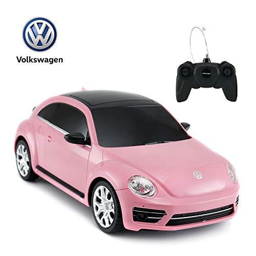RASTAR Rc Beetle Volkswagen, skala 1:24 dla dzieci zdalnie sterowany samochód wyścigowy, różowy rc zabawka samochód dla dzieci dziewczynek małych dzieci.