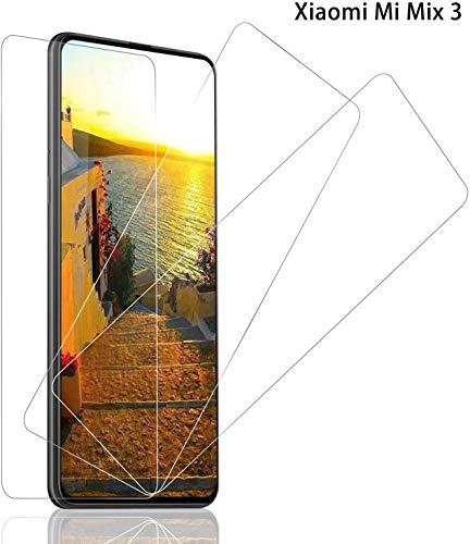 Panzerglas Schutzfolie für Xiaomi Mi Mix 3, [3 stück] Mi Mix 3 Panzerglasfolie mit 9H Festigkeit, Anti-Kratzer Schutzglas, Anti-Öl, 3D Touch, Bläschenfrei Transparent, Mi Mix 3 Bildschirmschutzfolie