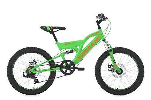KS Cycling Kinderfahrrad Mountainbike Fully 20'' Xtraxx grün-orange RH30cm